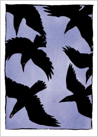 Crowlogue Postcard